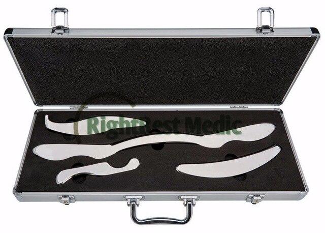 High Quality Stainless Steel Gua Sha Tools Set Guasha Board 4 pcs per set Free shipping