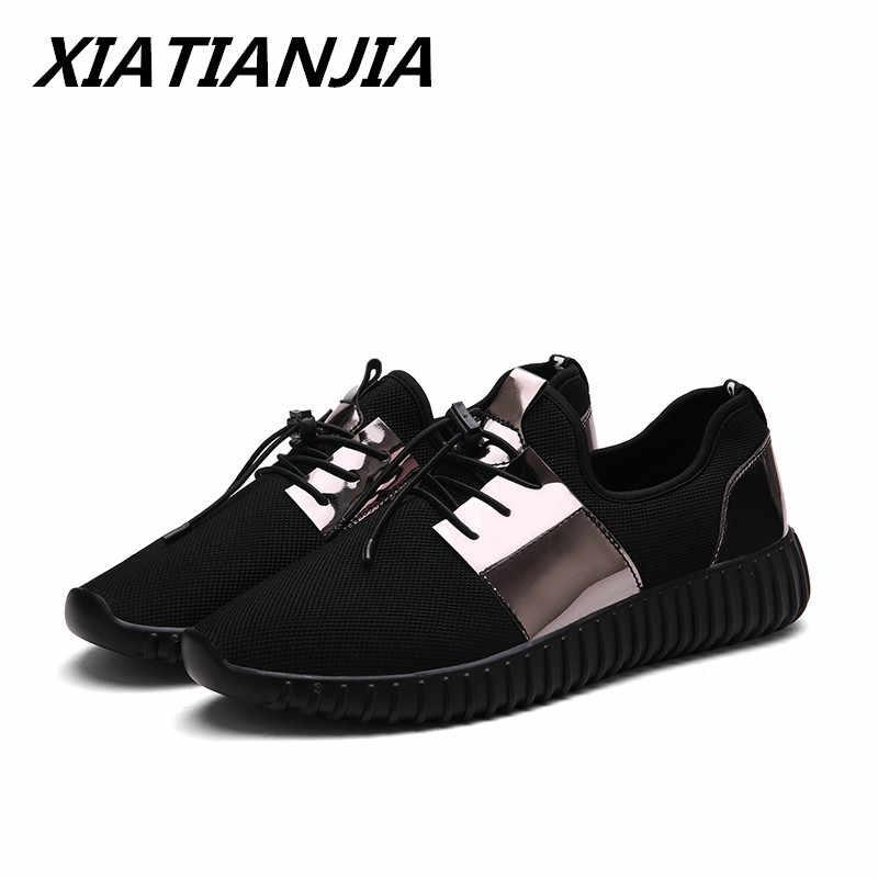 للجنسين عشاق أحذية كاجوال الرجال أحذية رياضية 0n منصة شبكة تنفس الصيف في الهواء الطلق مان الأحذية Zapatos دي Hombre