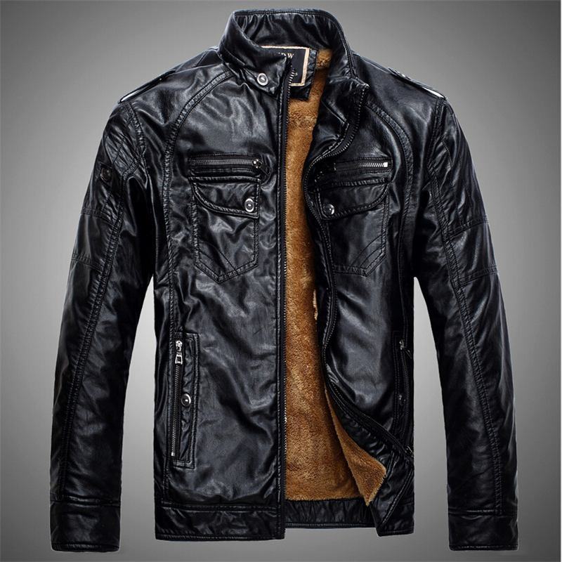 Winter Leather Coats For Men | Down Coat