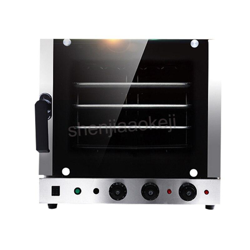 Automatique en acier inoxydable 4 plateaux chaud-air Convection four cuisine cuisson four électrique four commercial 60l 220V 4500W