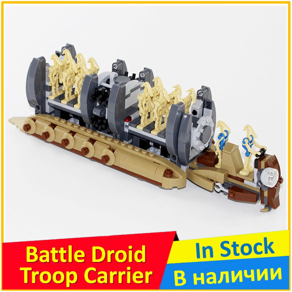 Battle Droid Troop Carrier 75086 Building Blocks Model Toy For Children BELA 10374 Compatible Space Wars Bricks Figure Set 2017 new 565pcs bela 10374 star wars battle droid troop carrier spaceship vessel cruiser jar binks blaster brinquedos leping