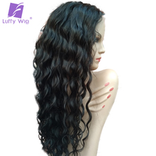 Luffy 5*4.5inch Silk Base Full Lace Human Hair Wigs with Baby Hair For Black Women Brazilian Non Remy Hair Loose Wave Glueless