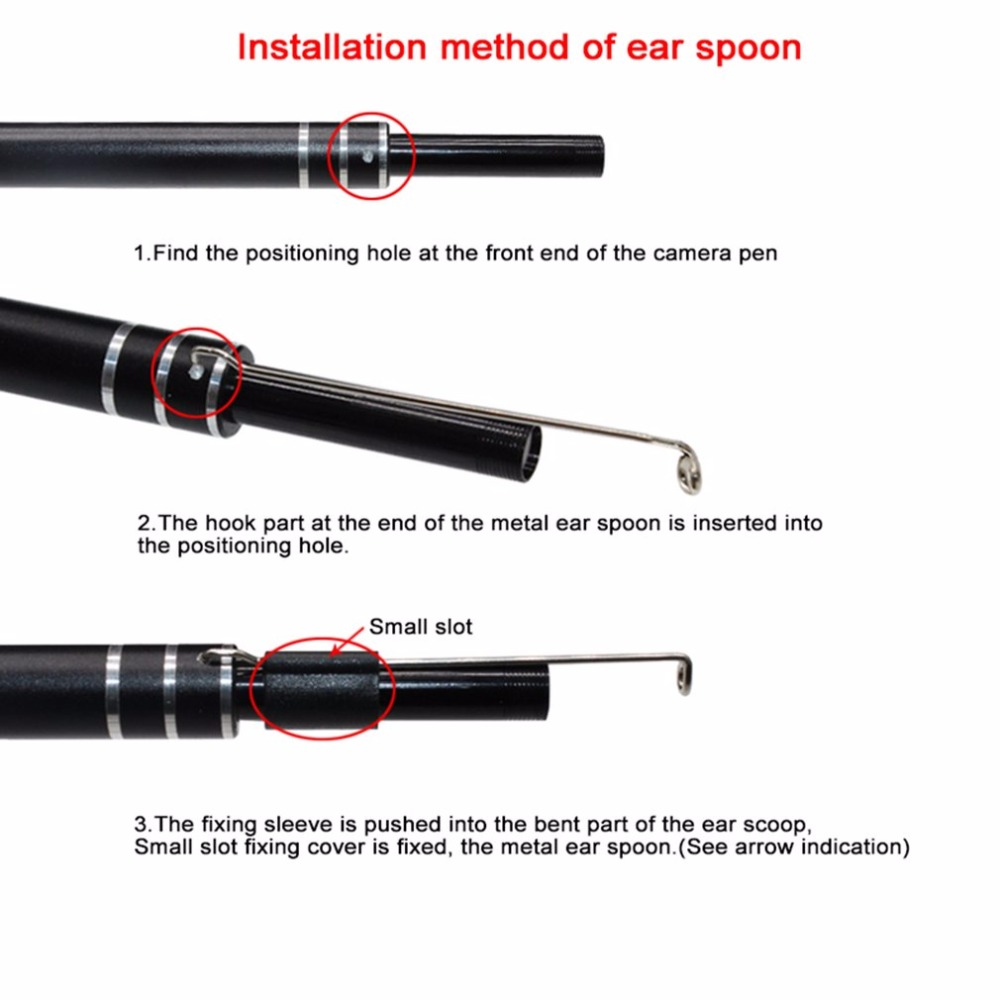 USB Ear Cleaning Tool - Visual Ear Spoon Multi functional Earpick With Mini Pen Camera - Home Endoscope 3