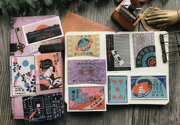 17pcs/pack Japanese Kimono Girl Retro Characters Landscape Old Decoration Sticker DIY Scrapbooking Label Album Sticker Escolar B