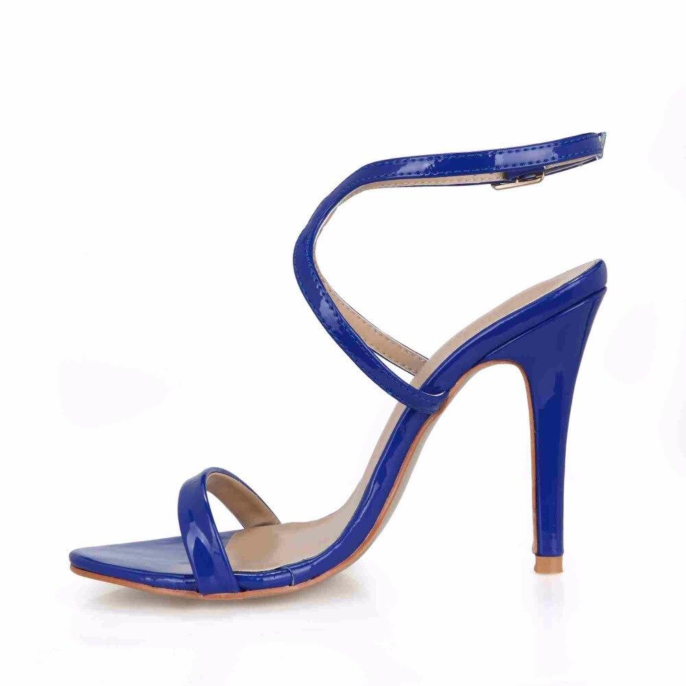 D'été En blue Cuir Sexy Femmes Plus Mariage Mariée Pour La Le gold Élégant 42 Sandales Black Sangle Talon Chaussures Aiguille Taille vnOwqCH