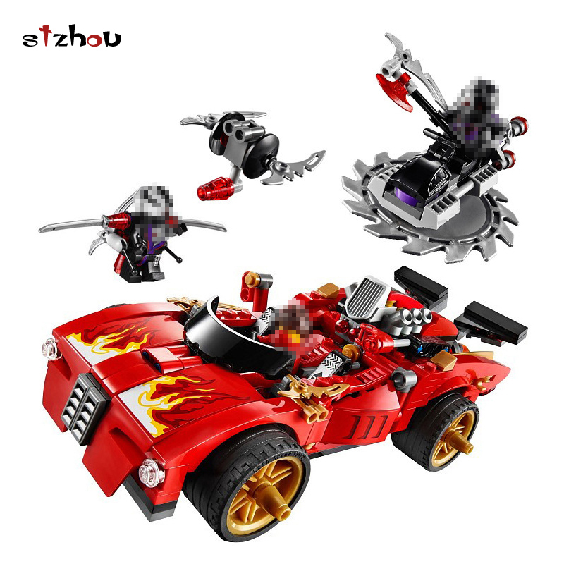 StZhou Ninjagoed Duel Ninjutsu Racing Truck Bricks Toy Ninja Kids Educational Toys For Children Compatible lepin Building Bricks tri fidget hand spinner triangle metal finger focus toy adhd autism kids adult toys finger spinner toys gags