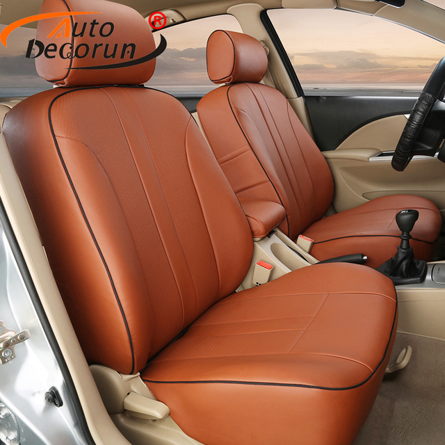 AutoDecorun Automobiles Seat Cover PU Leather For Nissan Sunny Sets Accessories Cars