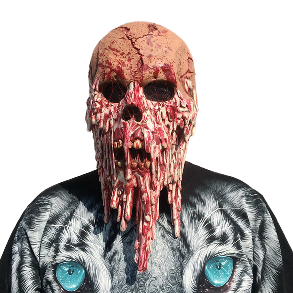 Scary Skull Latex Halloween Zombies Goonies Mask Blood Horror Face Overhead Skull Vampire Costume Face Mask Fancy Party Prop