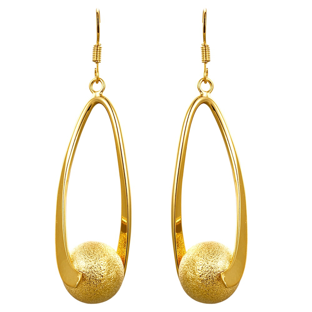 Dubai style latest design jhumke gold plating anti allergy brass earring jewellery for party jewellery