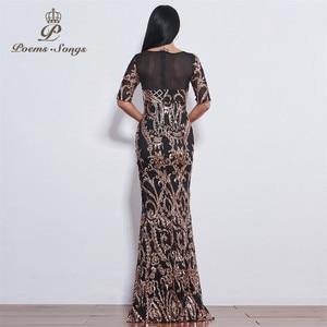 Image 2 - Poems Songs party perfect fashion Sequin Evening dresses formal dress long evening dresses New style vestido de festa