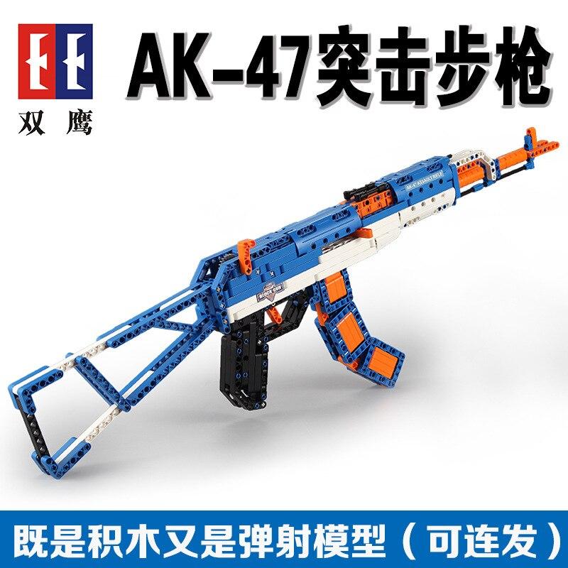 SWAT pistolet armes armes modèle enfant jouet briques modèle construction kits blocs ensembles arme Compatible militaire AK47 98 k fusil