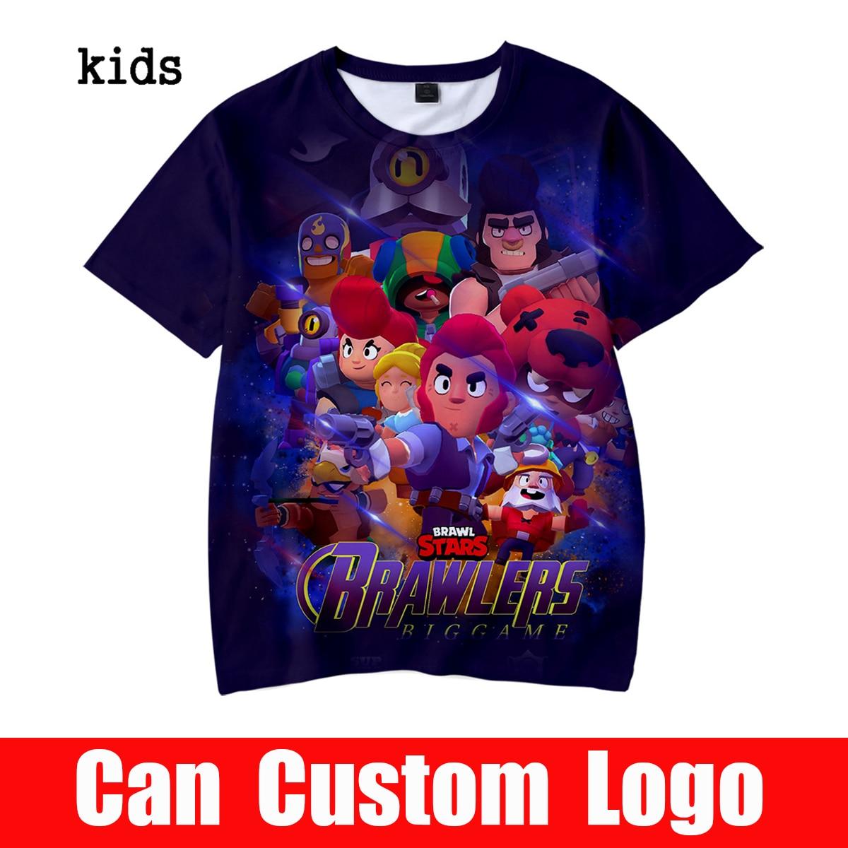 2019 BRAWL STARS 3D Printed Children   t     shirt   Fashion Spring/Summer Short Sleeve BRAWL STARS Tshirts 2019 Harajuku Casual   t     shirt