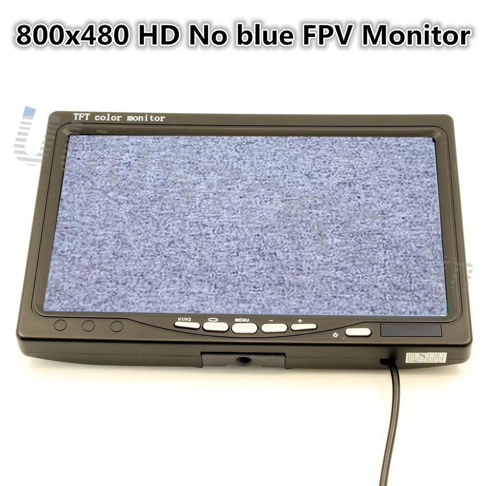 Usado, 7 pulgadas LCD TFT FPV Monitor de 800x480 con T enchufe No pantalla azul FPV Monitor de segunda mano  Se entrega en toda España