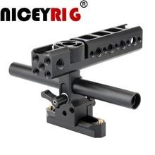 NICEYRIG клетка для камеры ручка NATO Rail 15 мм стержень зажим Холодный башмак для sony для Panasonic для Nikon видеокамера Стабилизация