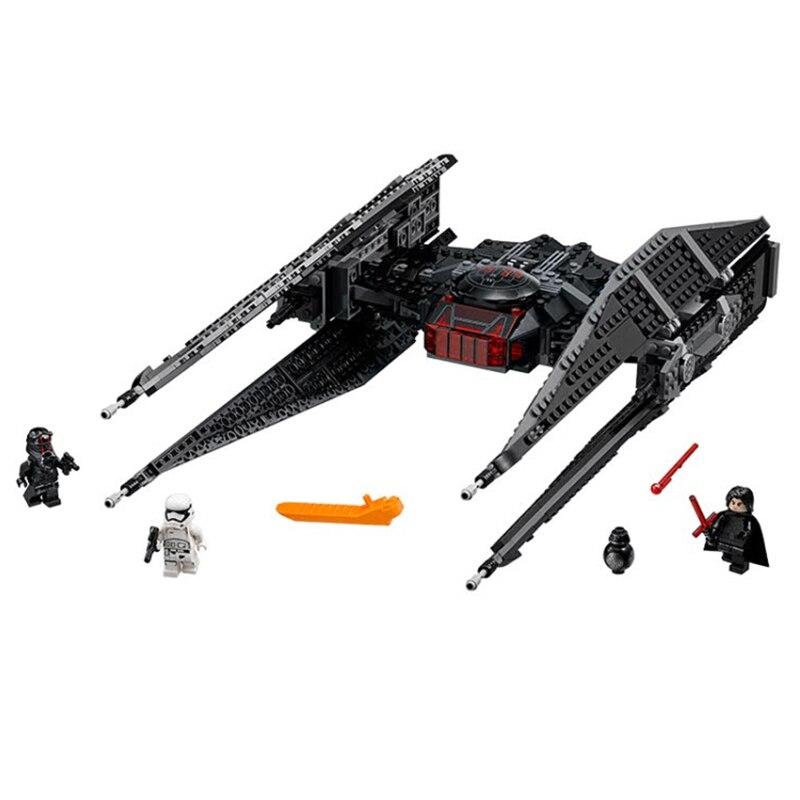 705 шт. Звезда игрушка Wars Kylo Ren галстук истребитель блок кирпич Совместимость Legoingly 75179 starwars цифры игрушки для детей оружие подарок