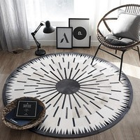 Round shaped natural cowhide seamed patchwork rug ,genuine cows skin fur decoration floor mat for piano