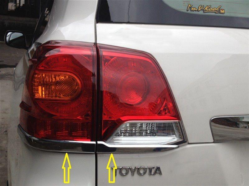 Garniture de feu arrière chromé 4 pièces pour Toyota TOYOTA Land cruiser FJ200 2013 2014