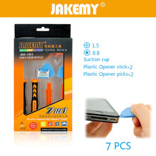 JAKEMY 7 in 1 Mobile Phone Repair Tools Kit Spudger Pry Opening Tool Screwdriver Set for IPhone Cell Phone Hand Tools Set 9 in 1 cell phone screen opening pry mobile phone repair tool kit screwdriver tool set for iphone samsung hand tools opening set
