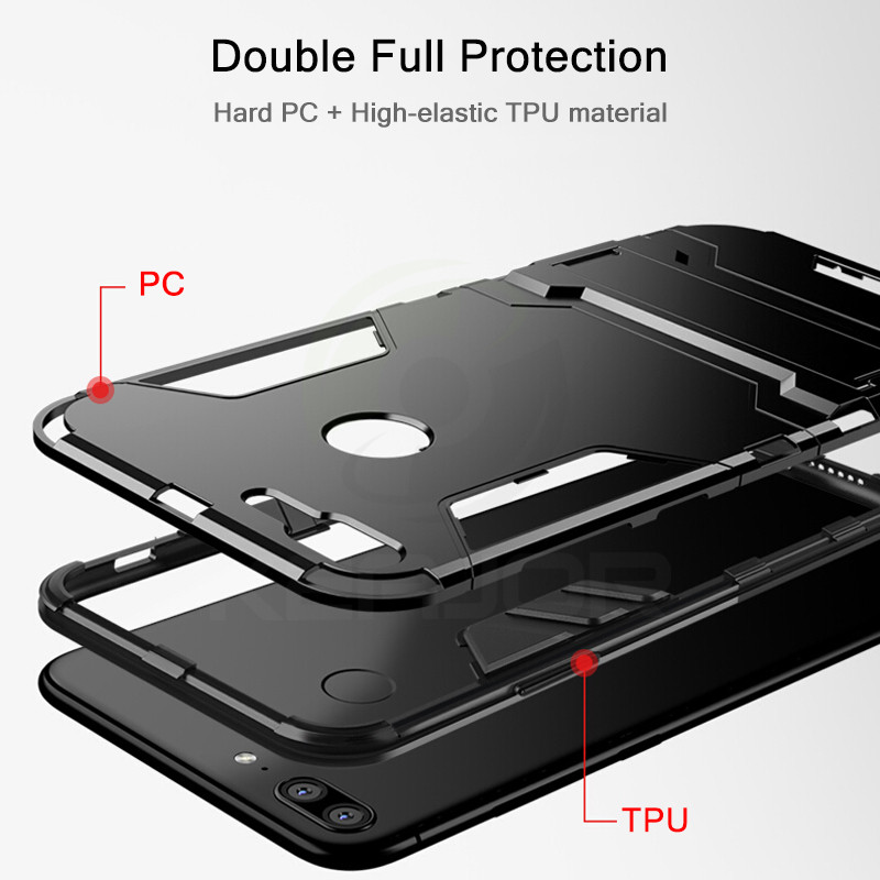 case For Huawei Honor 9 Lite Case Shockproof TPU+PC Hard Plastic with Stand Dual Hybrid Back Case Cover For Huawei Honor 9 Lite