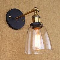 Loft Amerikanischen vintage single-kopf kleine geschützt wand lampe