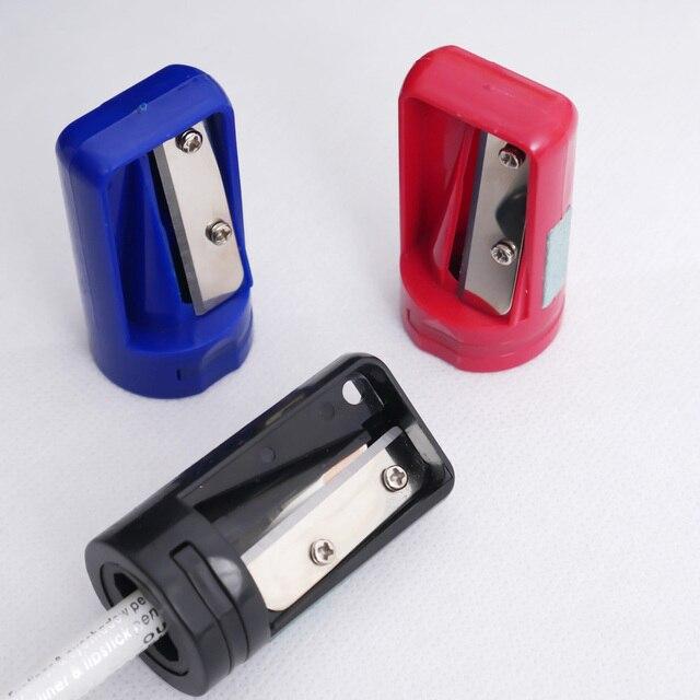 2Pcs Woodwork Carpenter Pencil Sharpener Cutter Shaver Narrow Sharpening Tool Eye Brow Makeup Cosmetic Eyebrow Pencil