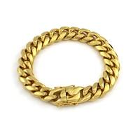 Wholesale 10pcs/lot 23cm 14mm Fashion High Quality Bracelets Stainless Steel Pop Punk Rock Chain Link Bracelet Men Jewelry VB668