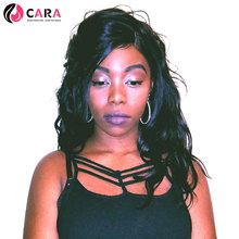 CARA 250% Density Lace Front Human Hair Wigs Body Wave Brazilian Non-Remy Hair Pre Plucked Natural Hairline With Baby Hair