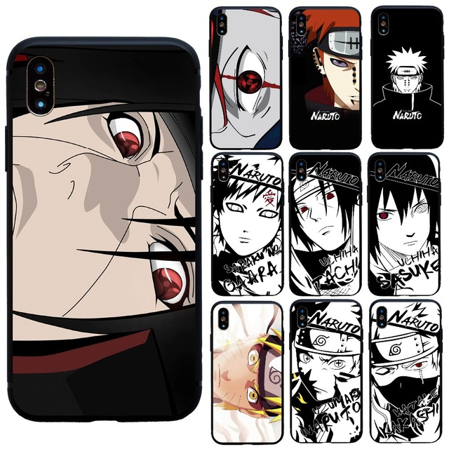 Fashion Japan Anime Sketch Naruto Case For Iphone   Plus X Xs Max Xr Soft Cover For Iphone S Se  S Plus Case Funda Coque
