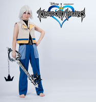 Cartoon Kingdom Hearts Game Anime Cos Riku Halloween Woman Man Cosplay Costume