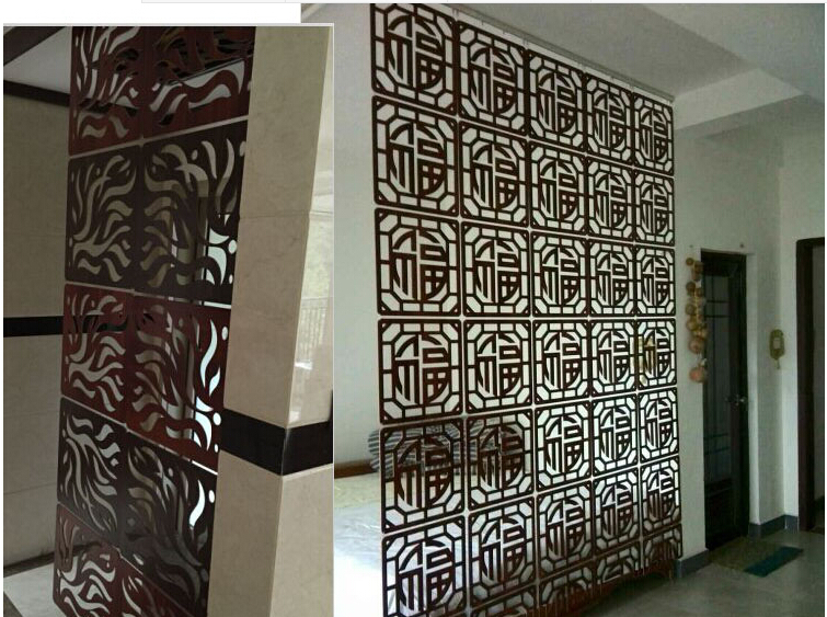 High Quality Living Room Wall Decoration Wooden Screens Chinese Style Screen Cut Off Office Partition Curtain