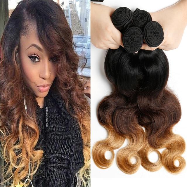 New Kbl Ombre Brazilian Virgin Hair Body Wave 4pcslot Ombre 1b 4 27