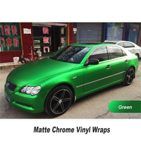 Matt Chrome Green Vinyl For car wrapping Film wrap Foil Auto stickers 2 3years Multiple color selection wholesale retail