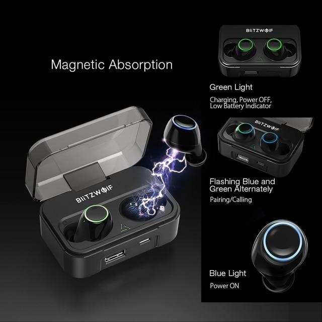 Blitzwolf BW-FYE3 bluetooth 5.0 Earphone IPX6 Waterproof with Mic 4