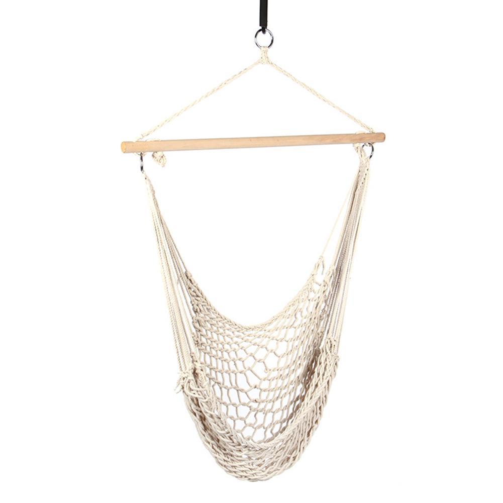 Chaise de hamac en corde de coton suspendue à la main