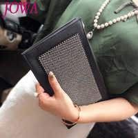 2019 New Design Women's Fashion Day Clutches Casual All match Handbags Shiny Diamonds Zipper Packages Night Gold Purses 2 Colors
