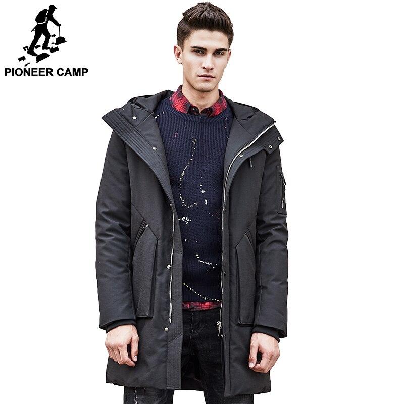 Пионерский лагерь русский толстая зимняя куртка-пуховик мужские теплая новая модная брендовая одежда наивысшего качества длинные пуховик...