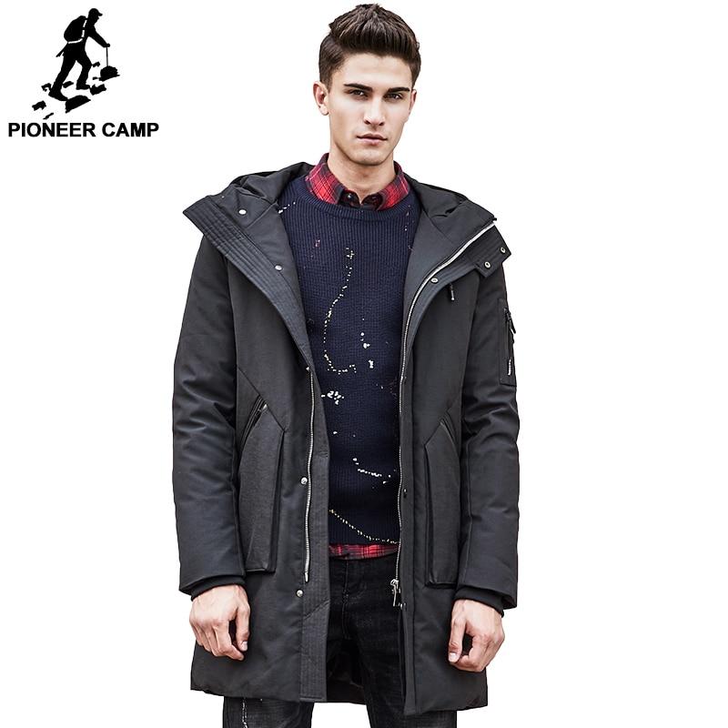 Pioneer Campo Russo inverno giù uomini giacca marchio di abbigliamento di Alta qualità A Lungo caldo di Spessore del 90% piume d'anatra Bianca giù cappotto Maschile 611607