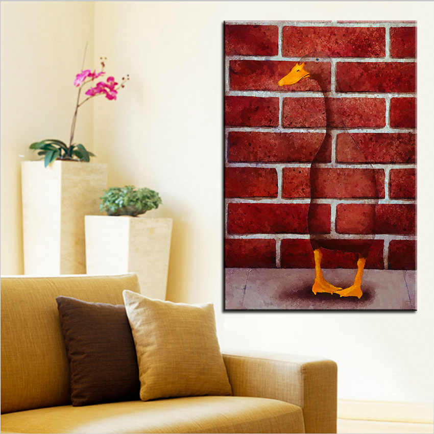 Large size printing oil painting another brick wall for Living room 12x18