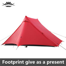 خيمة تخييم خفيفة للغاية 20 d من النيلون 2 شخص في الهواء الطلق خيمة تخييم خفيفة 3 فصول للمحترفين