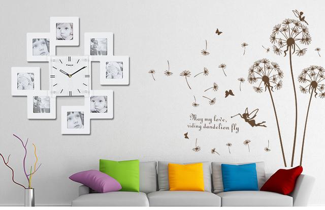 Kingart Large Digital Wooden Photo Frame Wall Clock Decorative Kids Wall Art Home Hanging Watch Clock