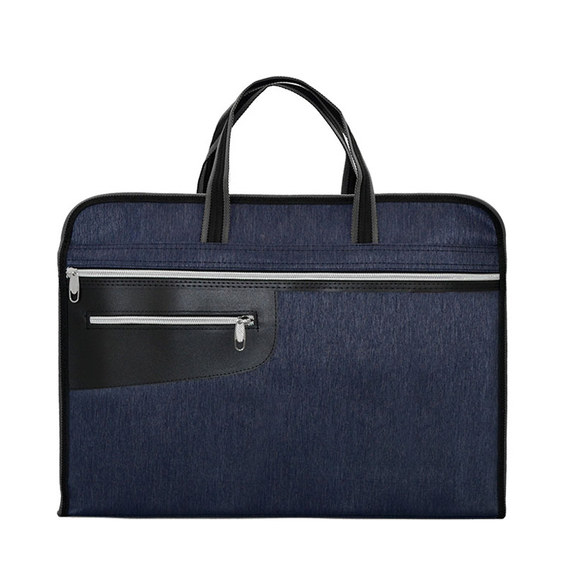цены на Double Layer High Capacity Portable File Bag A4 Tote File Folder Filing Meeting Bags Multifunctional Waterproof Canvas Bag в интернет-магазинах