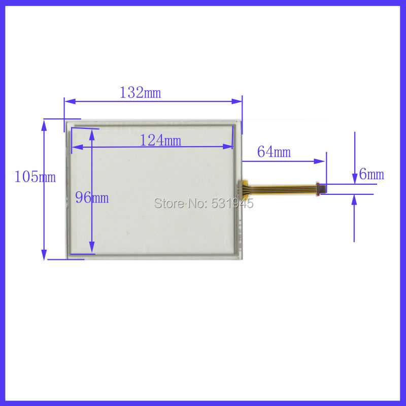 NEW 5.8 inch 132mm*105mm Touch Screen 4 wire resistive USB touch panel overlay kit 132*105 TOUCH SCREEN touchpad TP 405 417