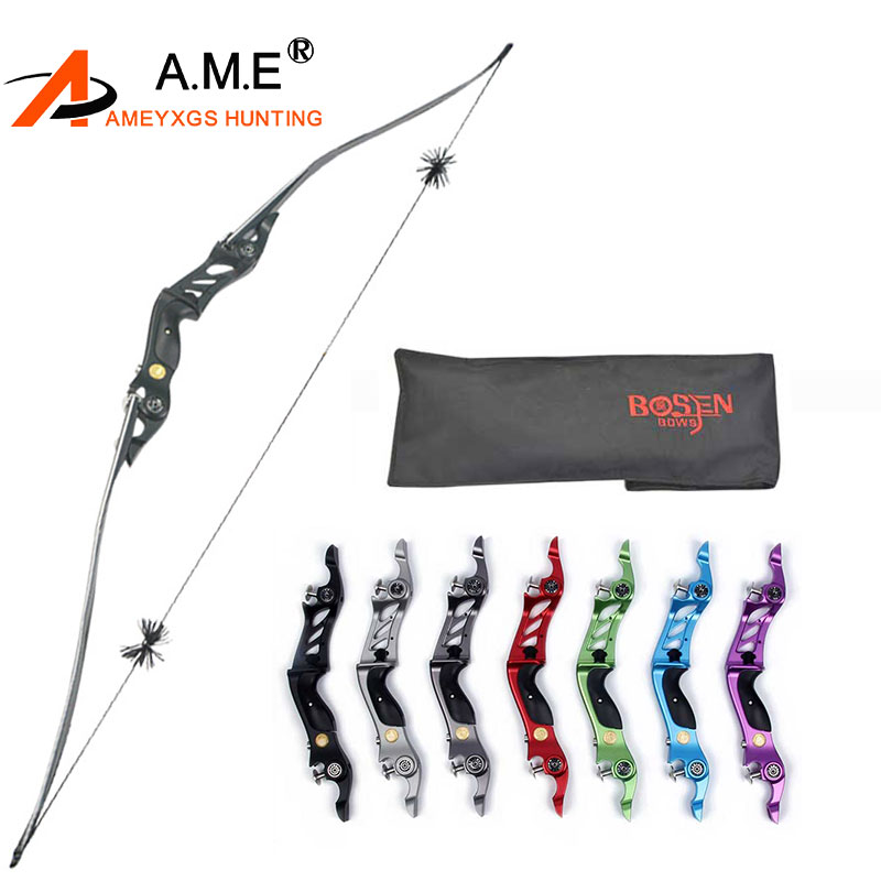 60 Inches Bosen-horn 20-55lbs Takedown Kit Bow Arrow Rest Rh String Sport Feather Gift Recurve Bow Tournament Hunting Shooting