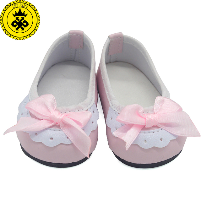 Doll Shoes Fit 18 inch Girl Doll Black and white Shoes Casual Shoes Baby Doll  Shoes Doll Accessories xie501 5aa337981700