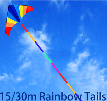 free shipping 10m 15m 30m large kite tails colors kite windsocks ripstop nylon fabric eagle kite flying toys octopus kite 30m beach kite flying single line octopus kite tube shaped soft kite 3d ripstop nylon fabric
