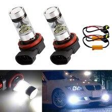 hot deal buy 2x h8 h11 car canbus bulbs reflector mirror design fog lights no error for bmw e71 x6 m e70 x5 e83 f25 x3