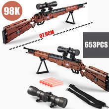 New Pubg 98k M4-A1 MP5 Toy Gun fit Technics Military SWAT Gun Model building blocks bricks toys for children boys gift цена