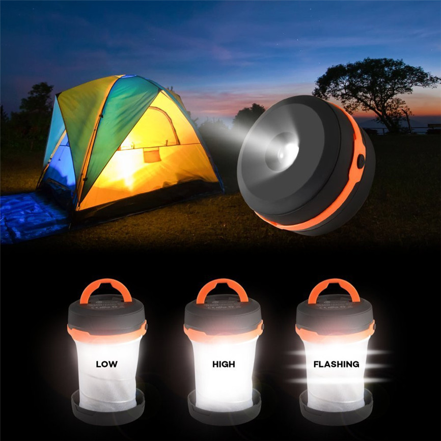 CARPRIE 2017 CARPRIE 2017 Camping Lantern Portable Collapsible Hiking Night Light Lamp Flashlights Dropshipping 911