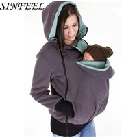 S 3XL Baby Maternity Sweatshirt Pregnant Women Hoodies Thicken Maternity Carrier Carry Baby Infant Zipper Jackets Coat Plus Size