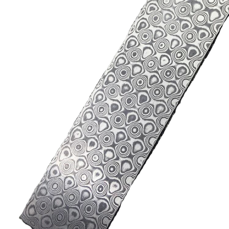 Circles lines Damascus pattern steel plate Chopper Knife blade Material Produce DIY tools diy rectangular lattice pattern metal stencil plate carbon steel cutting die